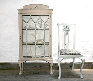 Pedran hand painted shabby chic  Display Cabinet or China cabinet