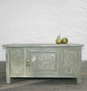 Pedran hand painted Blanket Box
