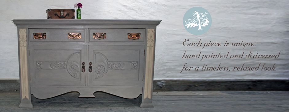 Pedran hand painted Arts and Crafts Sideboard